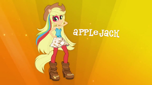 Applejack Rainbow Rocks music video