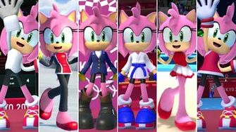 Mario & Sonic at the Olympic Games Tokyo 2020 - All Amy Outfits