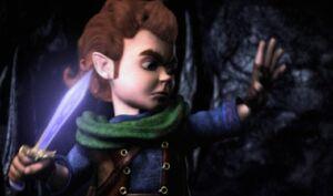 Bilbo confrounts gollum