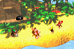 DKC 2 GBA DK Diddy Dixie and Cranky