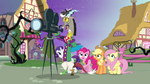 Discord, Rarity, Pinkie, Applejack and Fluttershy
