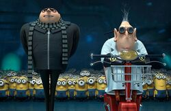 Gru with Nefario and the Minions