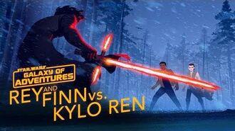 Rey and Finn vs. Kylo Ren Star Wars Galaxy of Adventures