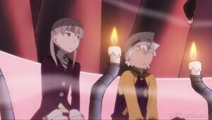 Soul and Maka were in the room