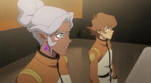 Pidge and Allura in Galaxy Garrison