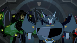 Grimlock and Steeljaw Go to the Cybertron.