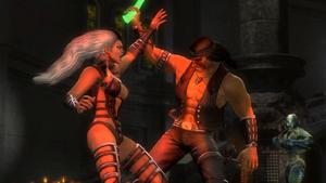 Sindel fighting Nightwolf