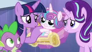 Twilight Sparkle reunites with Flurry Heart S6E16
