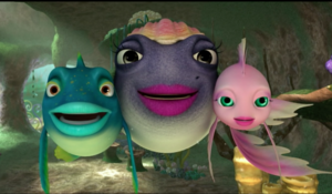 Cordelia Dylan & Pearl Smiling seeing the reef standing up to Troy