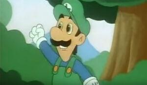 Luigi cartoon