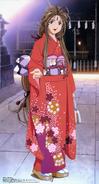 Oh My Goddess - Belldandy wearing a kimono