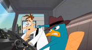 Perry luchando contra doof