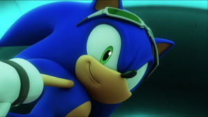 Sonic Free Riders Sonic Smiling