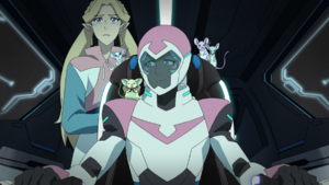 Allura and Romelle in the Blue Lion
