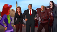 The Undertaker captures Triple H with the Mystery Inc.
