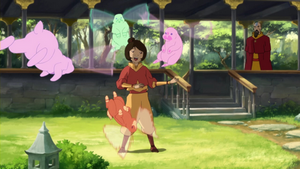 Jinora and her spirit friends