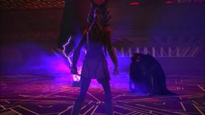 Darth Vader tends