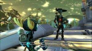 Ratchet, Clank & Smuggler in Hagrow Swampland
