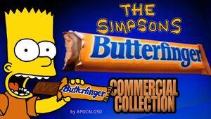 Bart simpson eats butterfinger