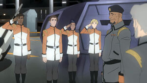 Iverson and the four Garrison cadets