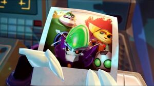 Ratchet's, Clank's, Captain Qwark's and Dr. Nefarious' Picture