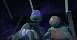 Donatello and Michelangelo (S04E17)