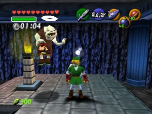 Adult Link and Dampe in The Legend of Zelda, The - Ocarina of Time