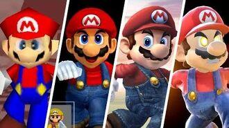 Evolution of Mario in Super Smash Bros. (1999 - 2018)