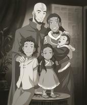 Aang, Katara, and their children
