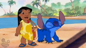 Lilo and Stitch on Beach (Ploot)