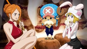 Nami Chopper and Carrot in opening 20 one piece