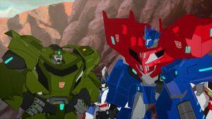 Optimus and Bulkhead (Enemy of My Enemy)