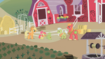 Apple Bloom packing items for Applejack