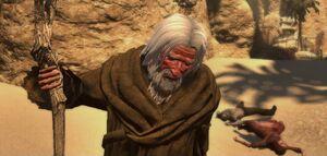 Khalid prays