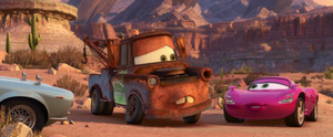 Holley with Mater in Radiator Springs