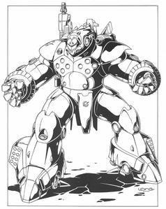 Rifts - CAF Battleram Assault Robot, Ship Destroyer (Rifts Dimension Book, Phase World)