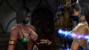 Kitana tells Jade to find Raiden and get help