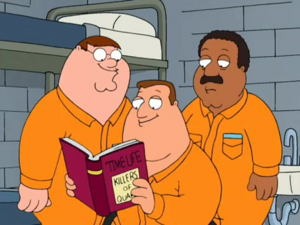 Peter, Cleveland and Joe in prison