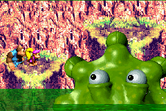 DKC 3 GBA Dxie and Kiddy VS Kroctopus