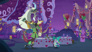 Discord snaps his fingers one last time S8E10