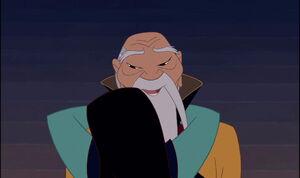 Mulan Gives the Emperor a Hug.