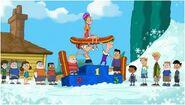 Phineas,Fetb y Candace ganan el campeonato de ski en invierano