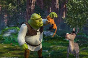Shrek & Donkey meet Puss