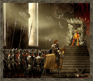 Eddard Jaime Aerys Iron Throne Room