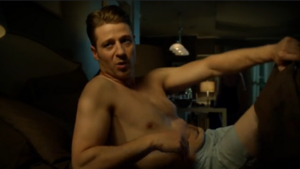Gotham - James Gordon (Ben McKenzie) in boxers getting out of bed after being fired