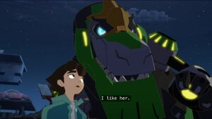 Grimlock with Russell