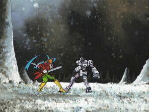 Andromon vs. Piedmon