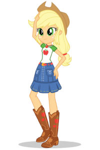 Equestria Girls Digital Series Applejack official artwork