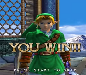 Link's endearing grin