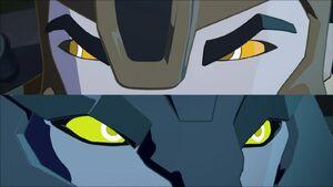 Bumblebee and Steeljaw's eyes